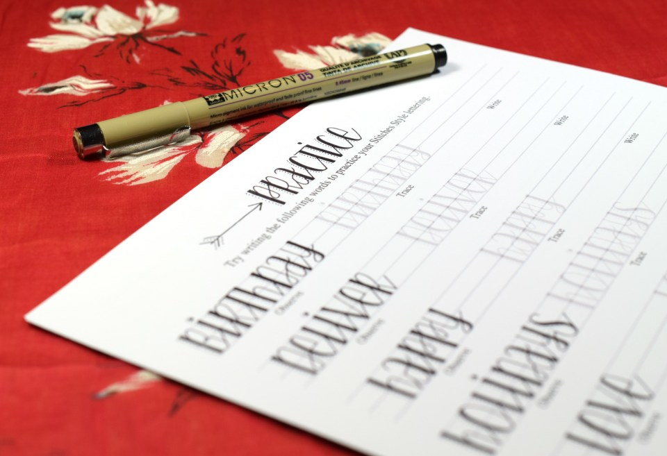 Premium Hand-Lettering Exemplar {Stitches Style} | The Postman's Knock