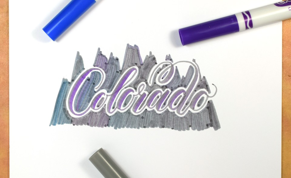 Crayola Calligraphy State/Country Art | The Postman's Knock