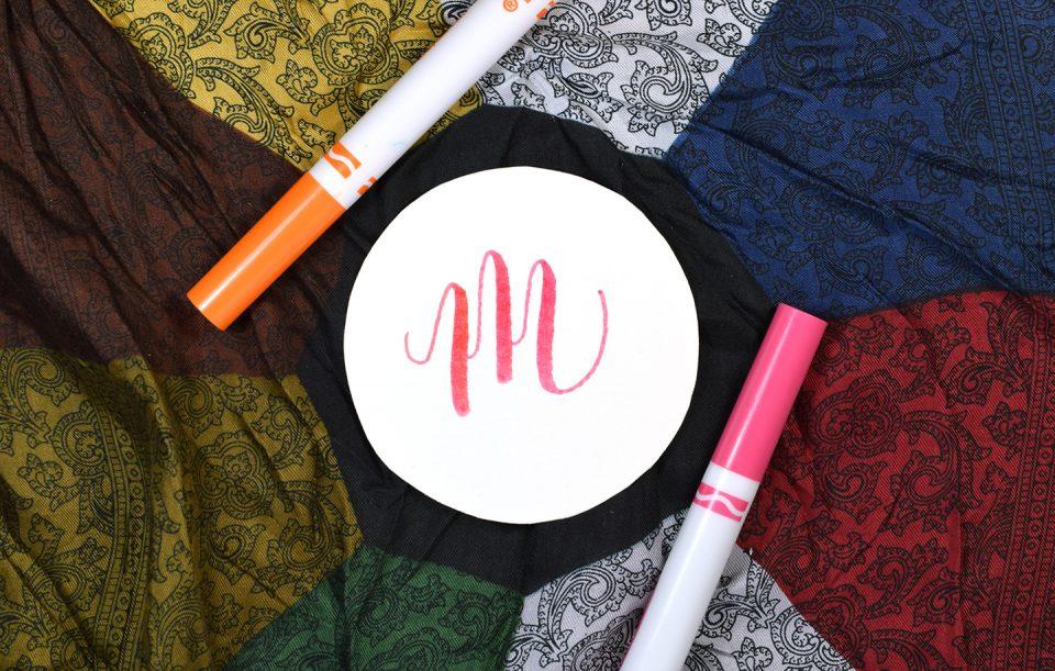 Starburst Crayola Calligraphy Gift Tag | The Postman's Knock