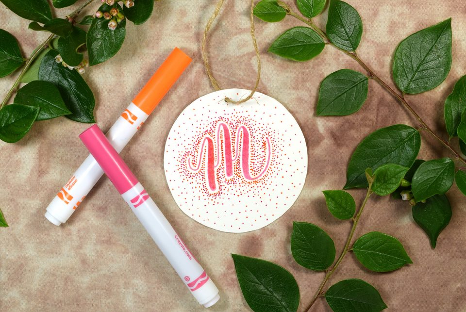 Starburst Crayola Calligraphy Gift Tag | The Postman's Knock