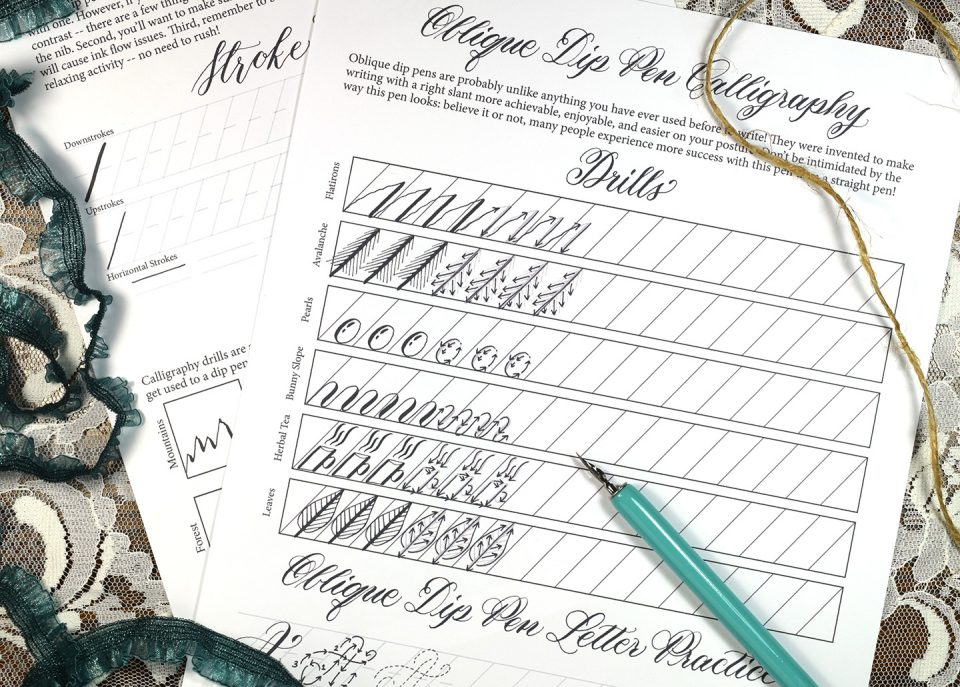 TPK Beginner Calligraphy Workshop Worksheet | The Postman's Knock