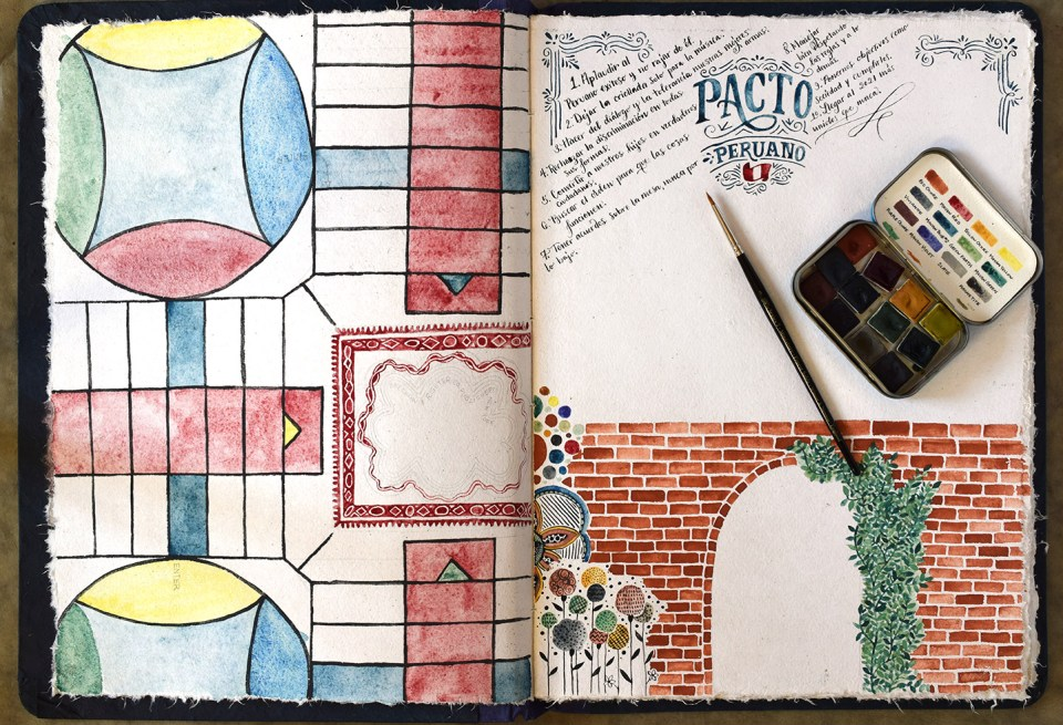 Watercolors + Calligraphy | The Postman's Knock