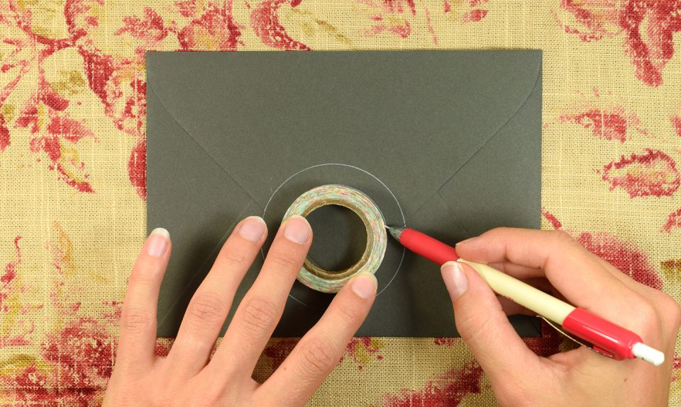 Simple Calligraphy Medallion Tutorial   The Postman's Knock