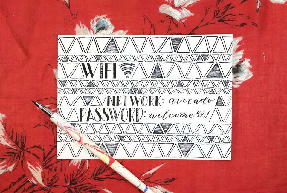 Mid Century Modern Wifi Password Sign Tutorial   The Postman's Knock