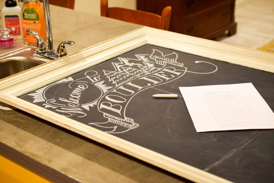 DIY Chalkboard Art Tutorial | The Postman's Knock