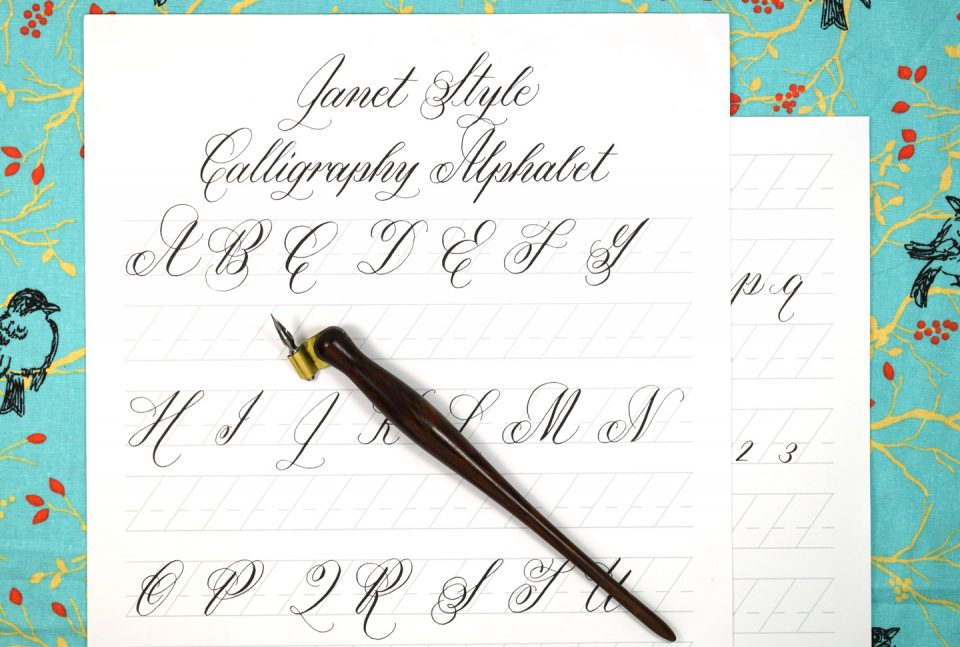Free Janet Style Calligraphy Exemplar   The Postman's Knock