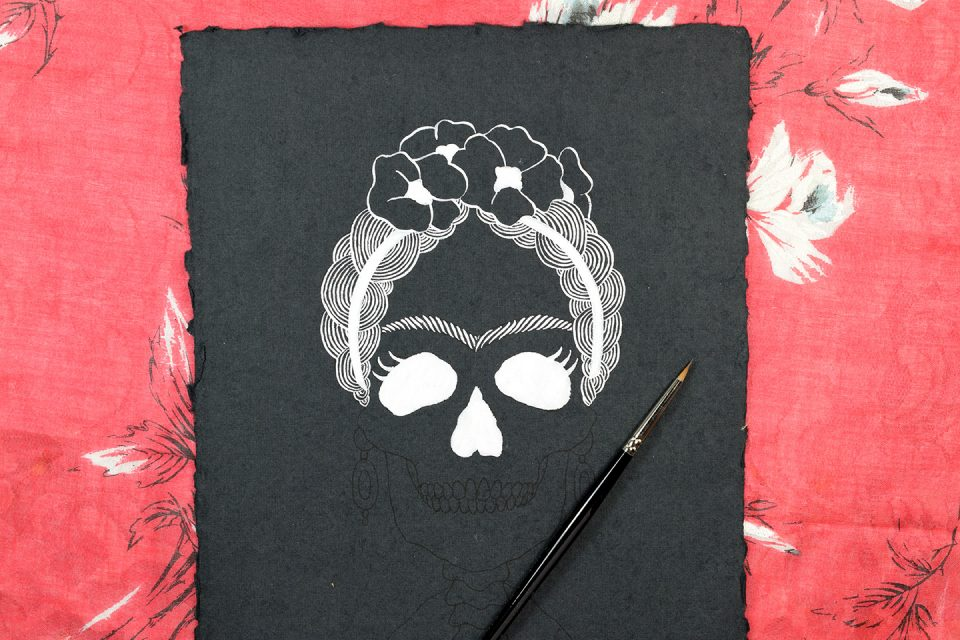 Frida Kahlo Halloween Art - Includes Printable | The Postman's Knock