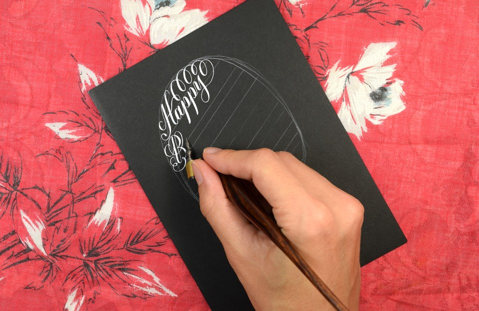 Calligraphy Birthday Card Tutorial | The Postman's Knock