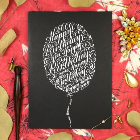Calligraphy Birthday Card Tutorial   The Postman's Knock