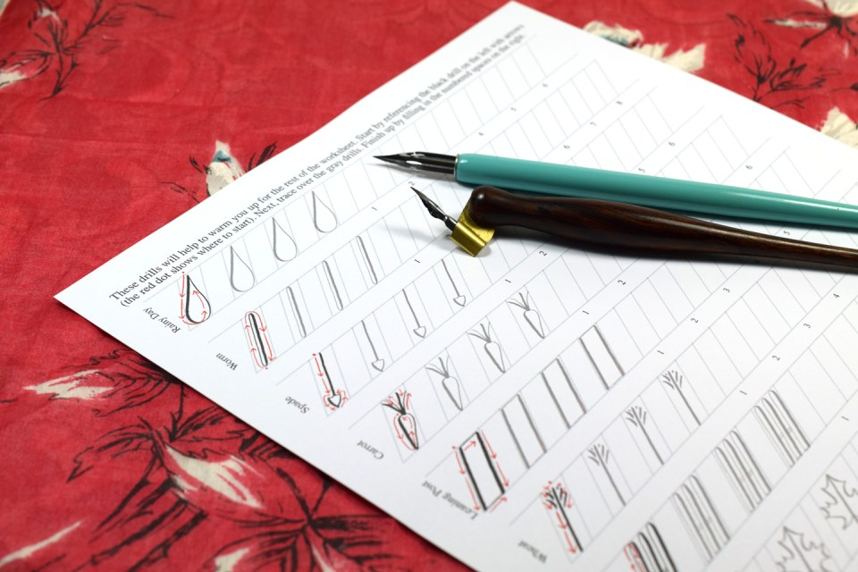 Not your average calligraphy drills garden edition the