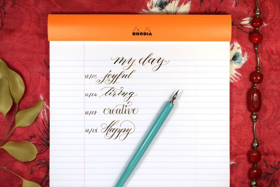 5 Ways to Sneak in Calligraphy Practice | The Postman's Knock