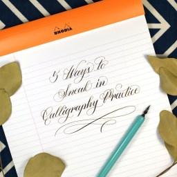 5 Ways to Sneak in Calligraphy Practice   The Postman's Knock