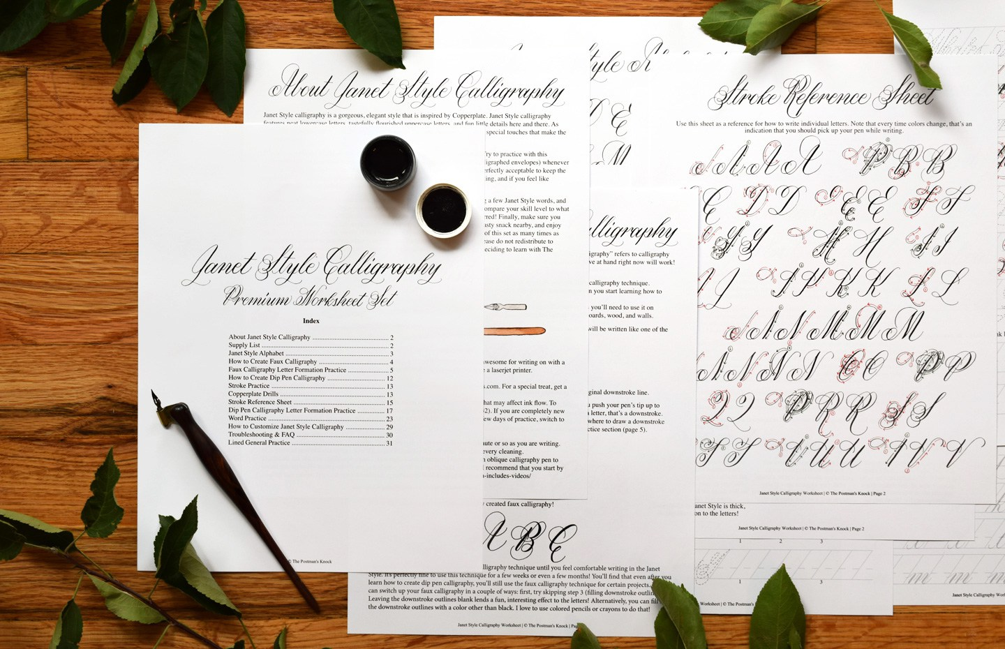 Janet Style Calligraphy Worksheet   The Postman's Knock