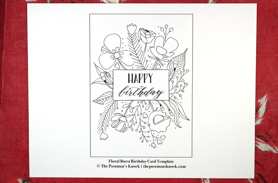 Floral Burst Birthday Card Tutorial Includes Free Printable The
