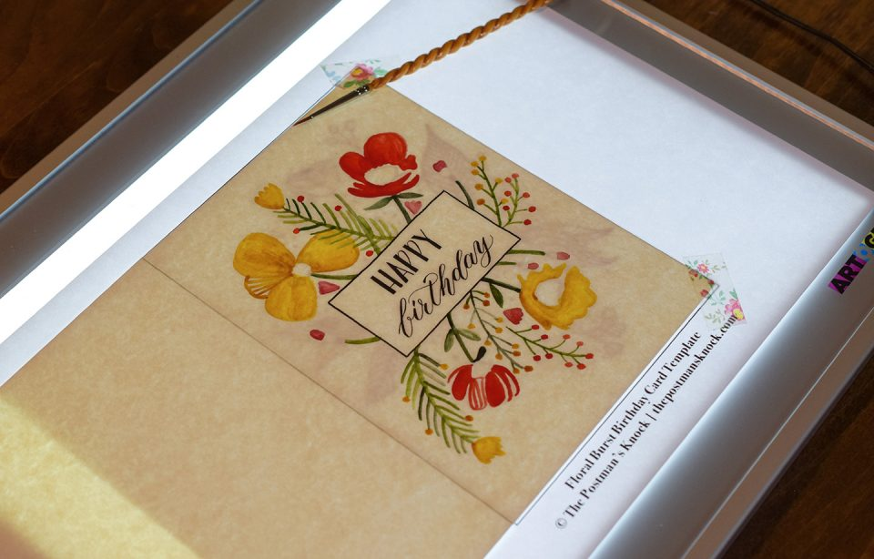 Floral Burst Birthday Card Tutorial (Includes Free Printable)   The Postman's Knock