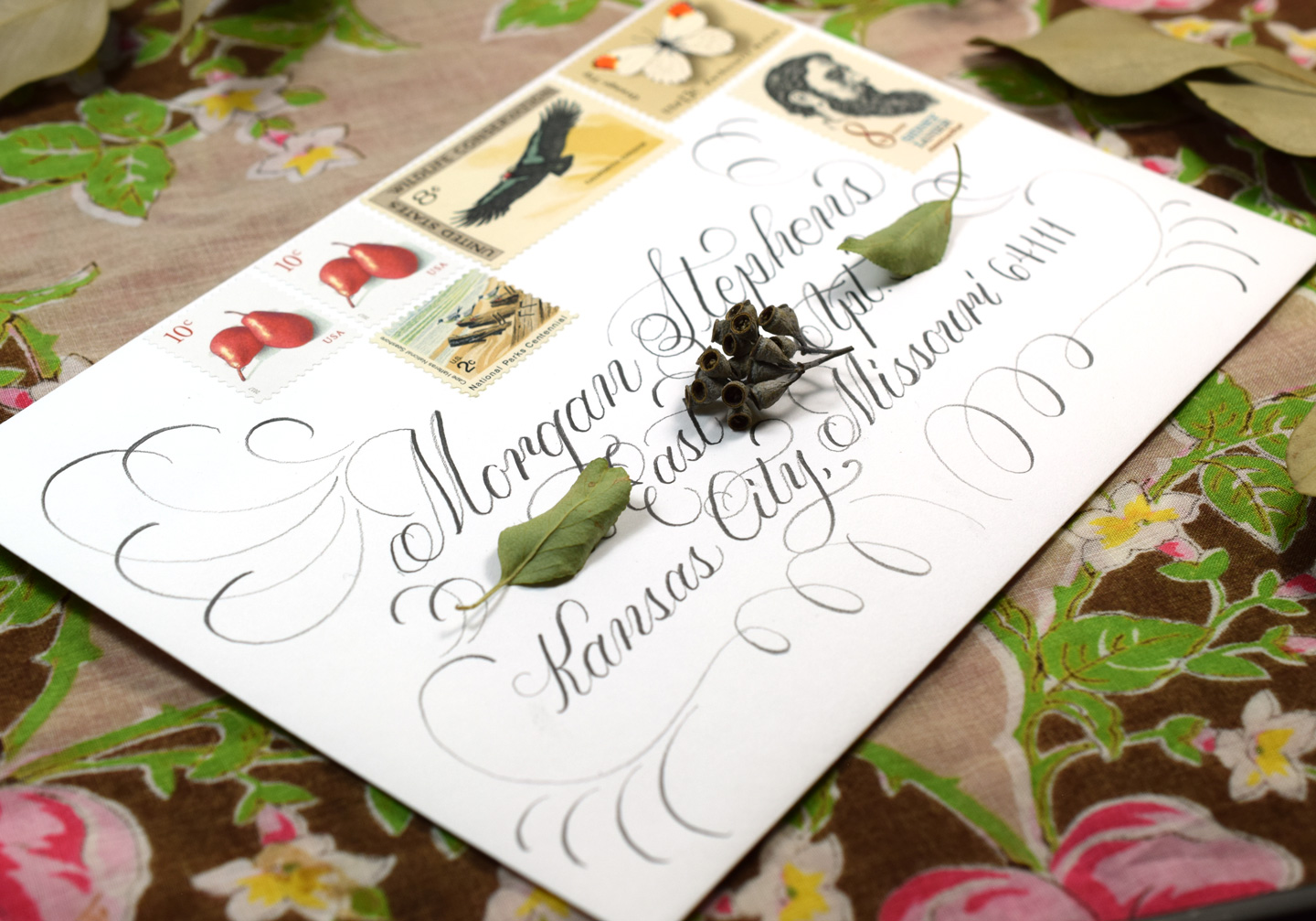 """You can use an """"old school"""" pencil to create lovely calligraphy!"""