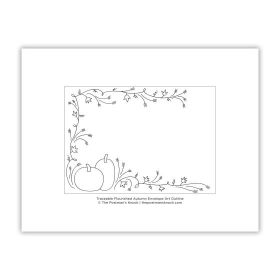 Traceable Autumn Envelope Art Template