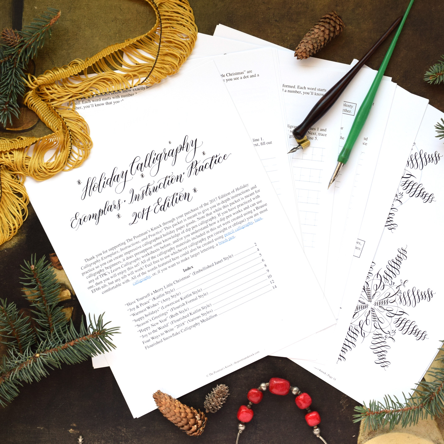 New Tpk Holiday Calligraphy Worksheet Edition