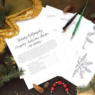 TPK Holiday Calligraphy Worksheet 2017 Edition