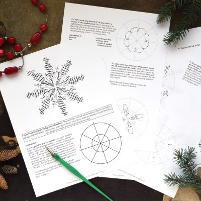 2017 Edition Holiday Calligraphy Printable Exemplar + Worksheet