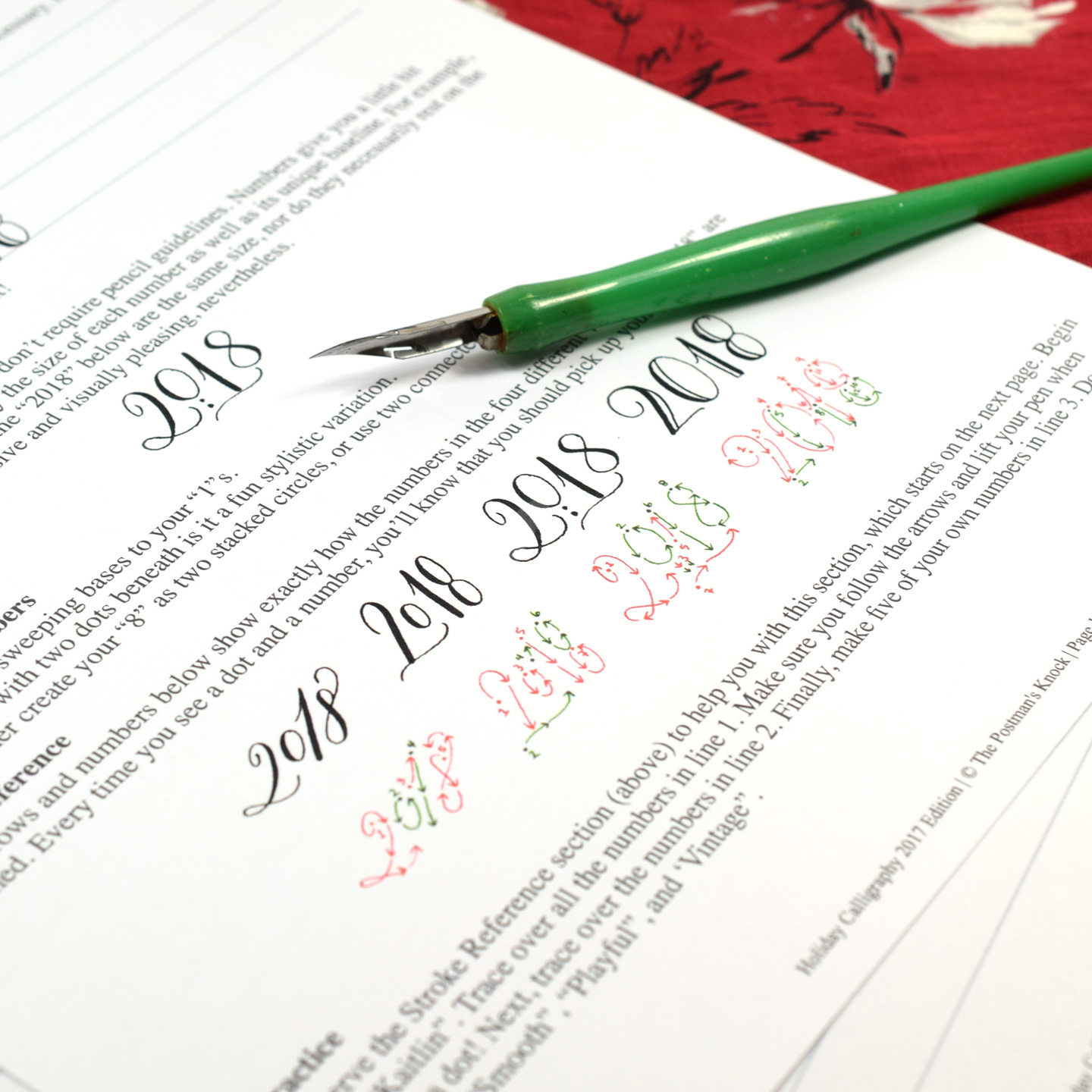 NEW* TPK Holiday Calligraphy Worksheet 2017 Edition | The ...