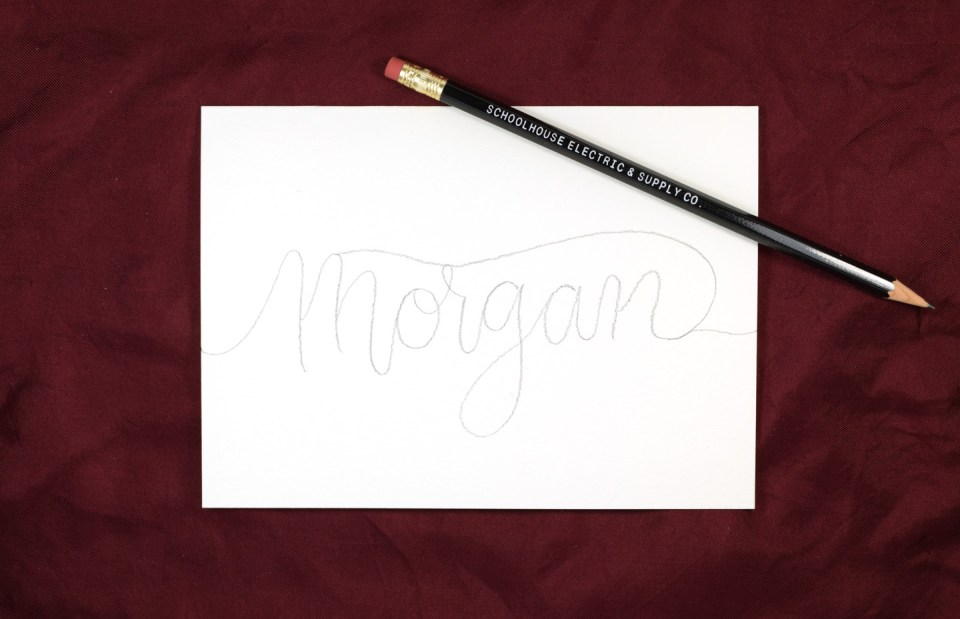 Watercolor Melt Lettering Tutorial | The Postman's Knock