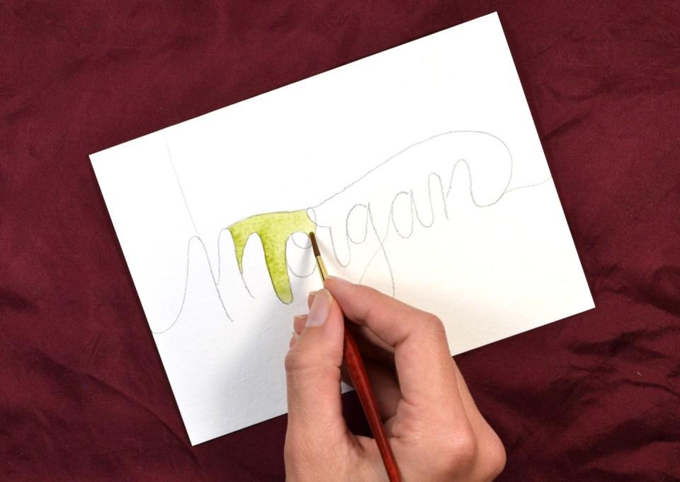 Watercolor Melt Lettering Tutorial   The Postman's Knock