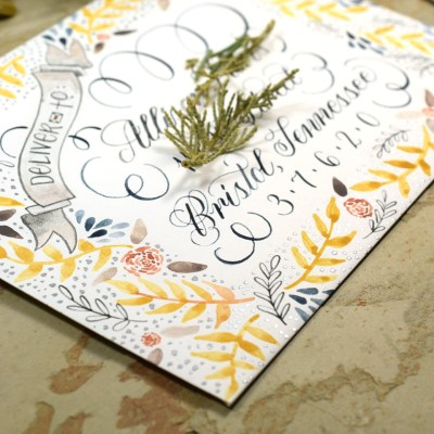 7 Tips for Creating Watercolor Calligraphy + a G&B Watercolor Giveaway