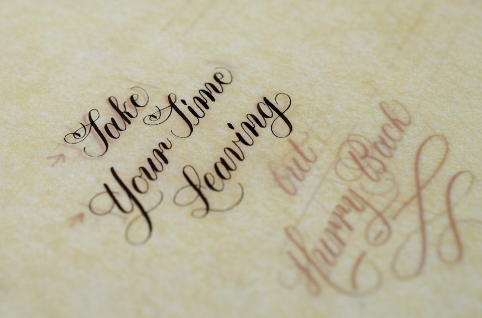 How To Make Calligraphy Quote Art The Postman's Knock Inspiration Quotes Calligraphy