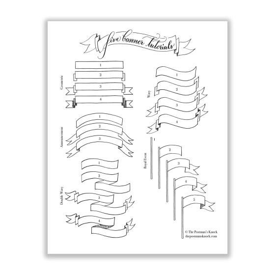 Five Banner Tutorials Printable | The Postman's Knock