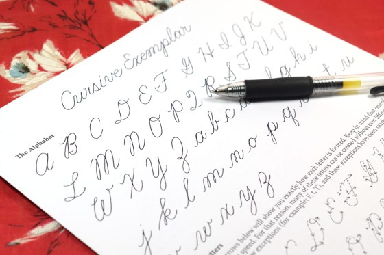 Learn Cursive Exemplar | The Postman's Knock