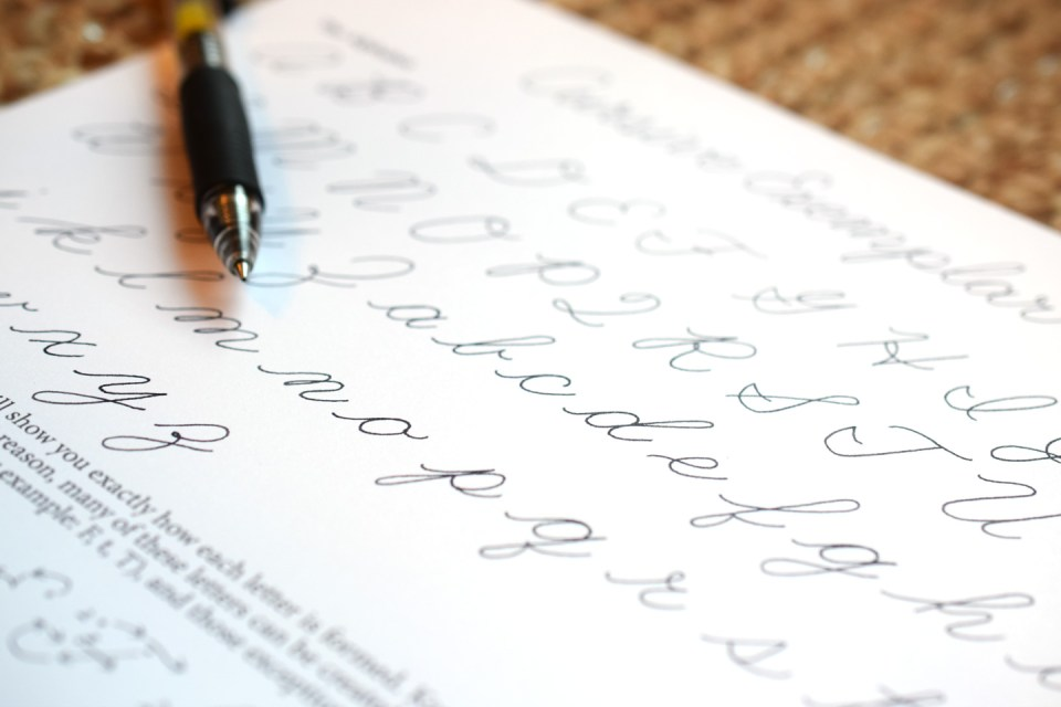 How to Write in Cursive (+ Free Printable)   The Postman's Knock