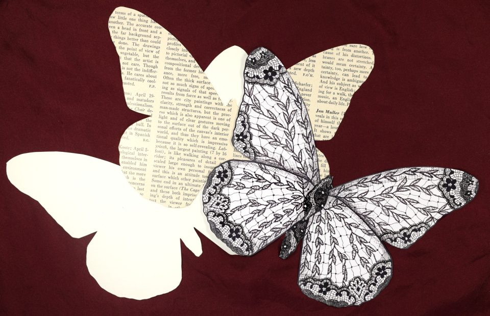 Illustrated Lace Butterfly Card Tutorial | The Postman's Knock