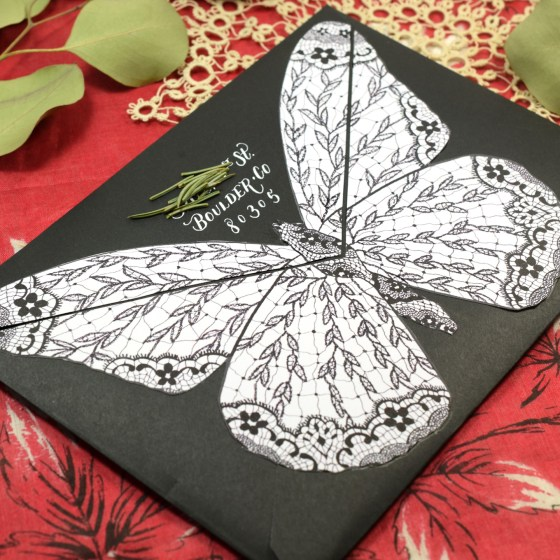 """The """"Medium Butterfly"""" ensures that the back of this envelope is anything but boring!"""