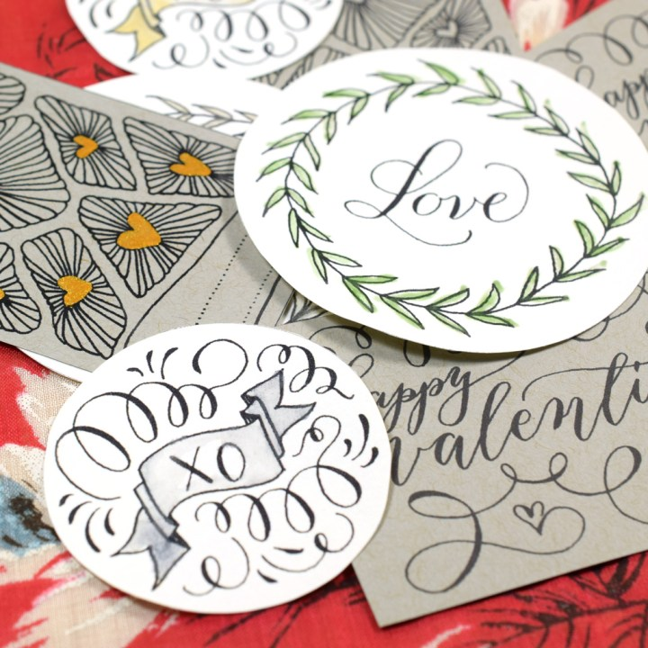 Hand Drawn Valentine's Day Gift Tags - Free Printable   The Postman's Knock
