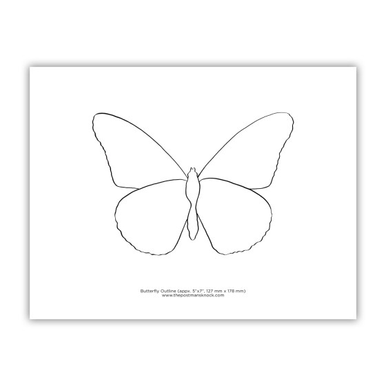 Printable Blank Butterfly Outline
