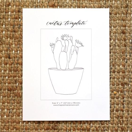 Printable Cactus Template   The Postman's Knock