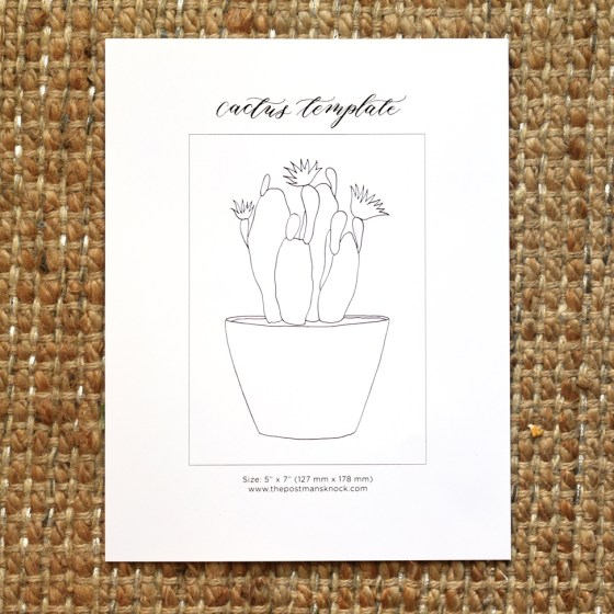 Printable Cactus Template | The Postman's Knock