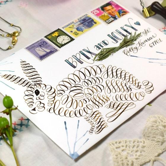 Calligraphy flourishes can make fantastic artwork!