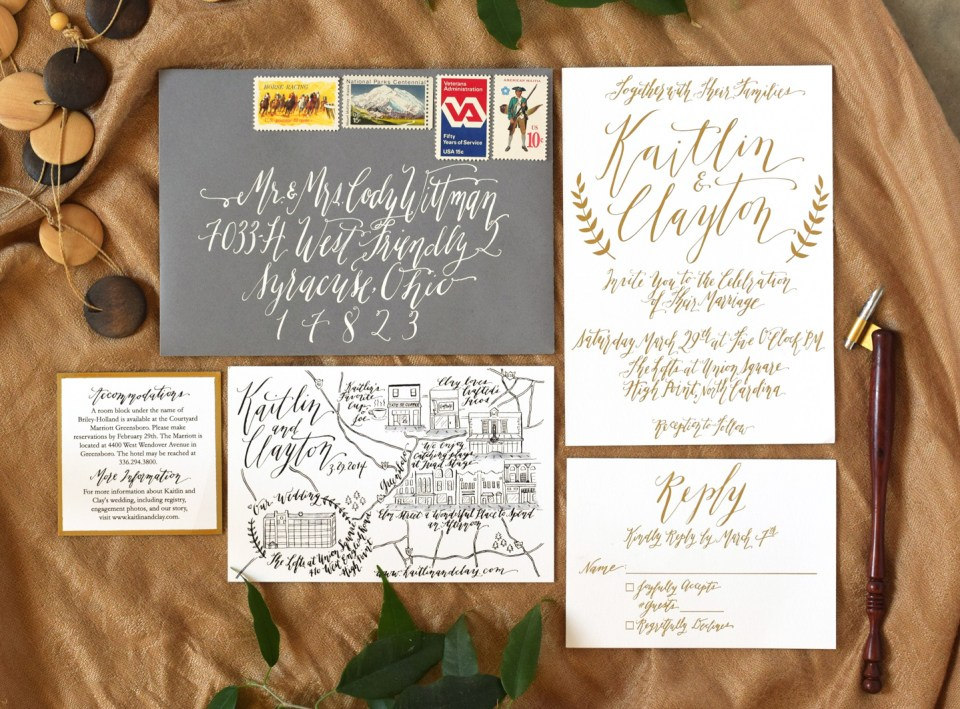 Kaitlin Style Wedding Invitation Suite | The Postman's Knock