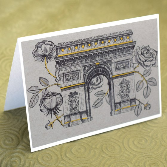 Printable Rosy Arc de Triomphe Illustrations