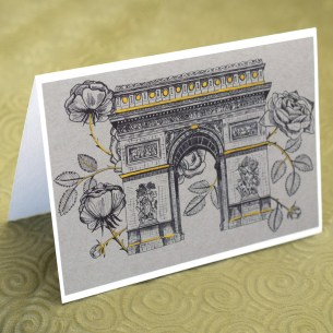 Printable Rosy Arc de Triomphe Illustrations