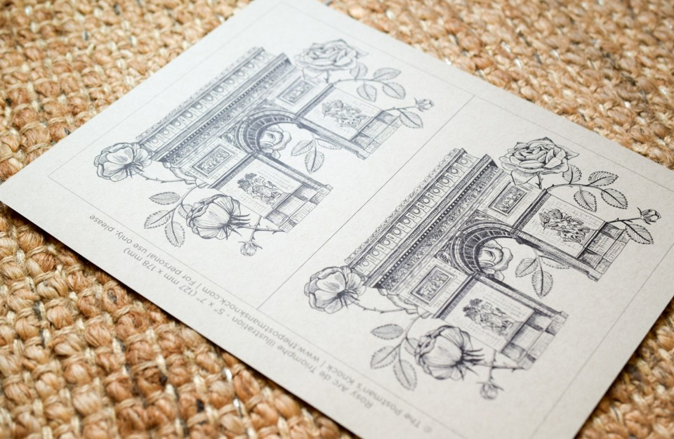 Lets Go To Paris Greeting Card Tutorial The Postmans Knock
