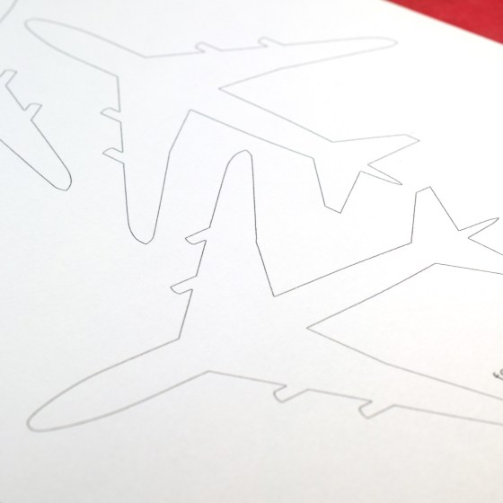 Printable Airplane Outlines