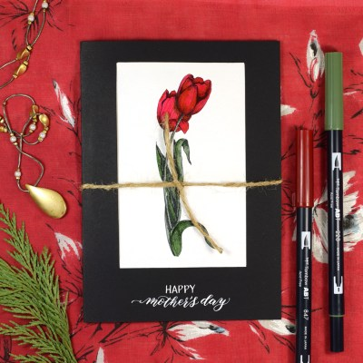 Quick Mother's Day Card Tutorial