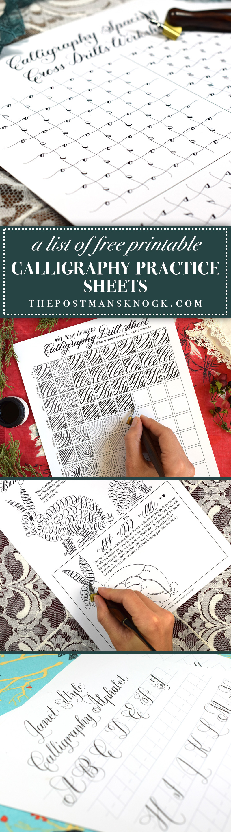 A List of TPK's Free Printable Calligraphy Practice Sheets | The Postman's Knock