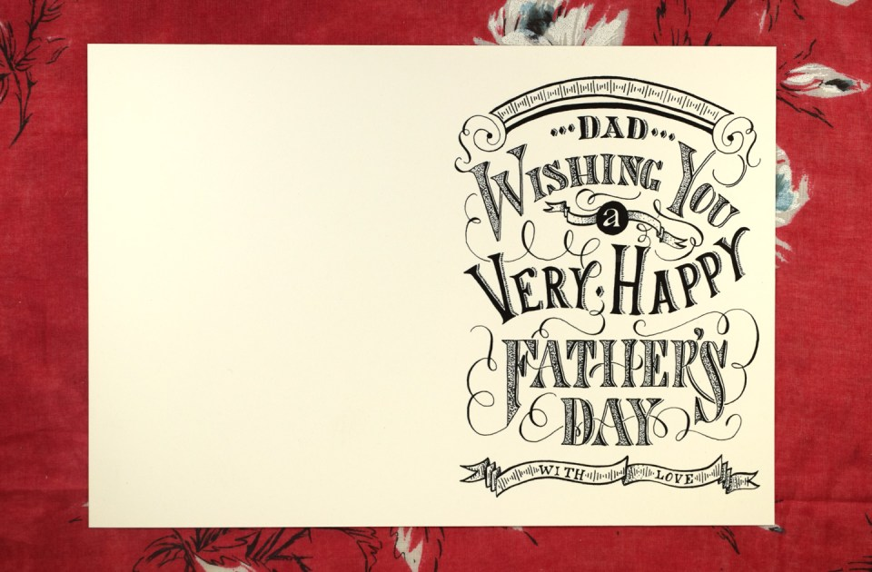 Vintage Typography Printable Father's Day Card   The Postman's Knock