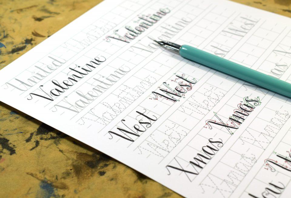 Amy Style Calligraphy Word Practice | The Postman's Knock