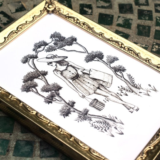 """Both the 5""""x7"""" version of the illustration (shown) and the 8""""x10"""" version frame very well."""