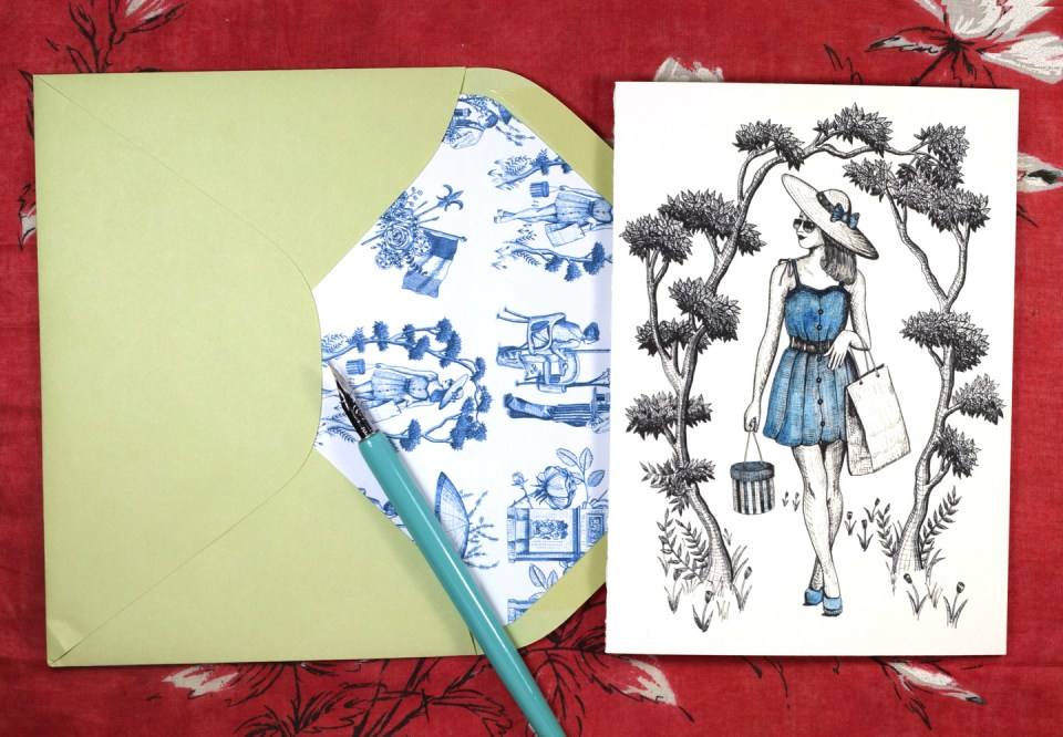 """Springtime in Paris"" Printable Stationery 